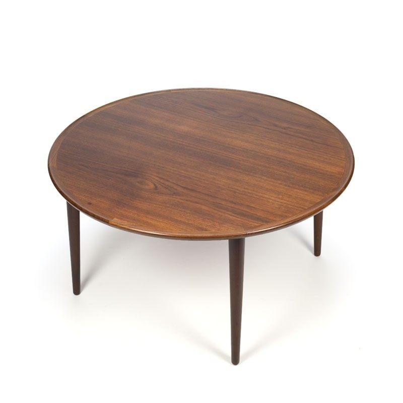 Vintage Round Danish Teak Coffee Table – Retro Studio Regarding Round Teak Coffee Tables (Image 39 of 40)