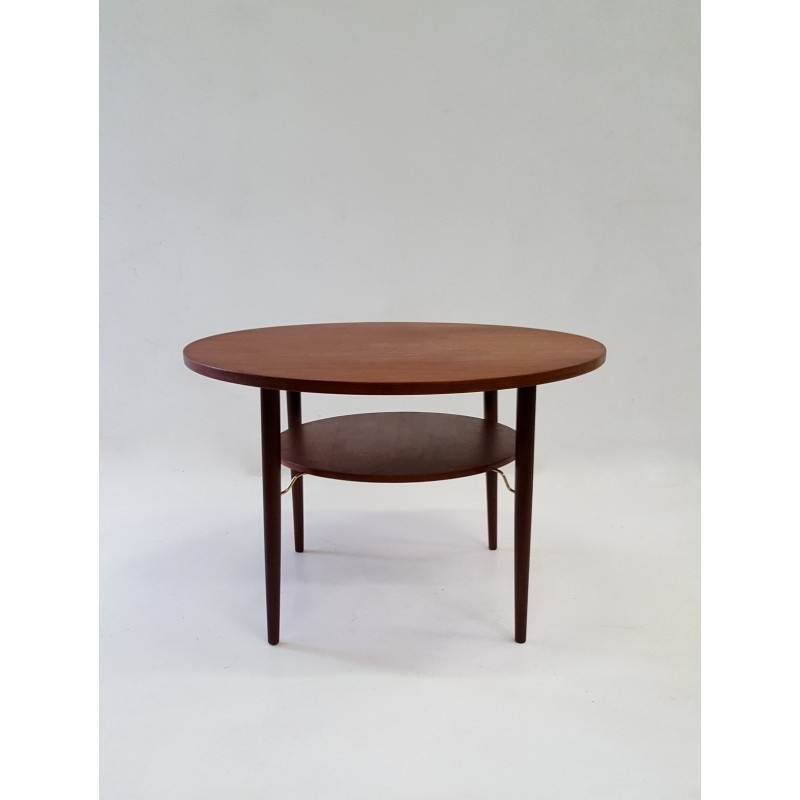 Vintage Scandinavian Design Round Teak Coffee Table In Teak – 1960S For Round Teak Coffee Tables (Image 40 of 40)