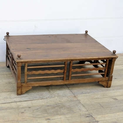 Vintage Teak Coffee Table – Jugs Indian Furniture & Gifts Inside Large Teak Coffee Tables (Photo 23 of 40)