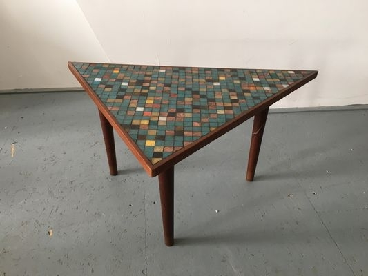Vintage Wood & Mosaic Coffee Table For Sale At Pamono Within Vintage Wood Coffee Tables (Image 33 of 40)