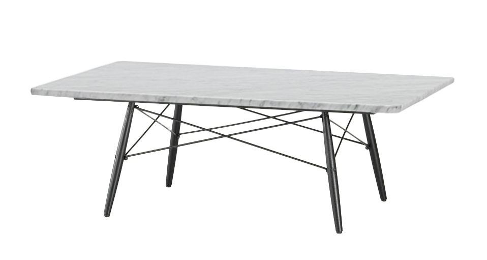Vitra Rectangular Eames Coffee Table (Carrara Marble – Brushed And Regarding Waxed Metal Coffee Tables (Image 36 of 40)