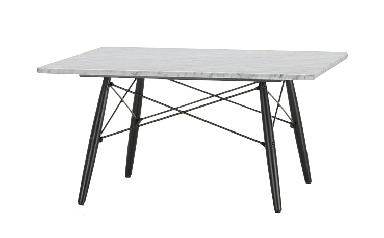Vitra Square Eames Coffee Table (Carrara Marble – Brushed And Waxed Regarding Waxed Metal Coffee Tables (Image 37 of 40)