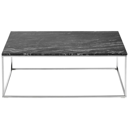 Vitro Black Marble Coffee Table Temple Webster With Regard To For Alcide Rectangular Marble Coffee Tables (View 15 of 40)
