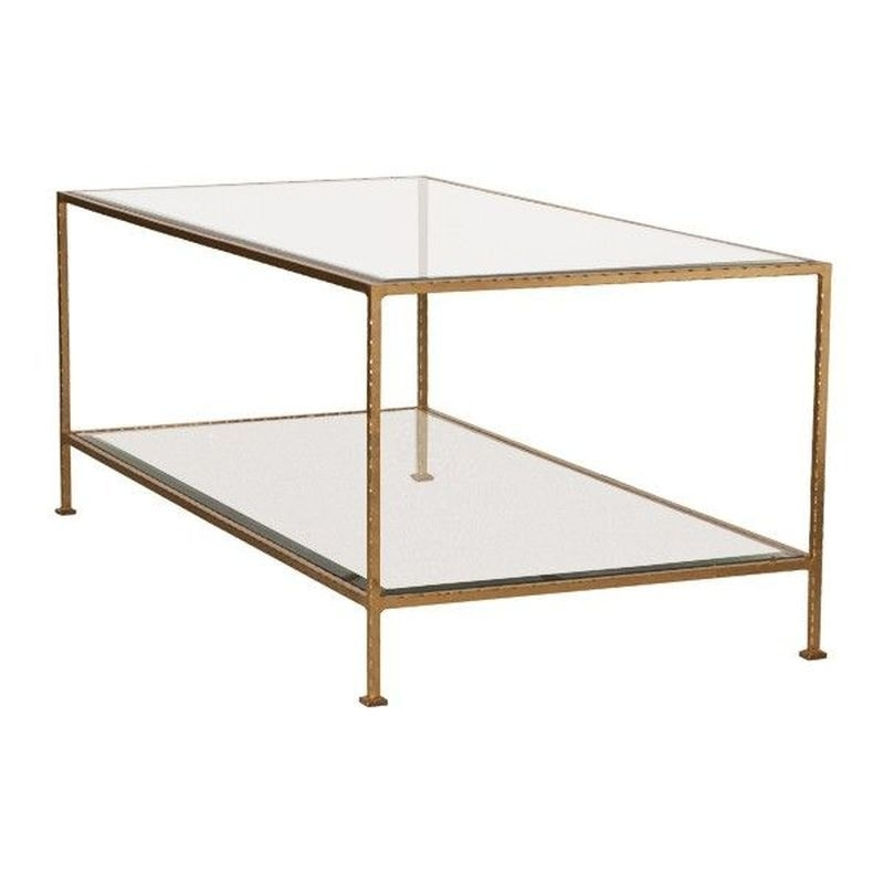 Wa Taylor G | Worlds Away Taylor Gold Leaf Coffee Table Throughout Gold Leaf Collection Coffee Tables (Image 36 of 40)