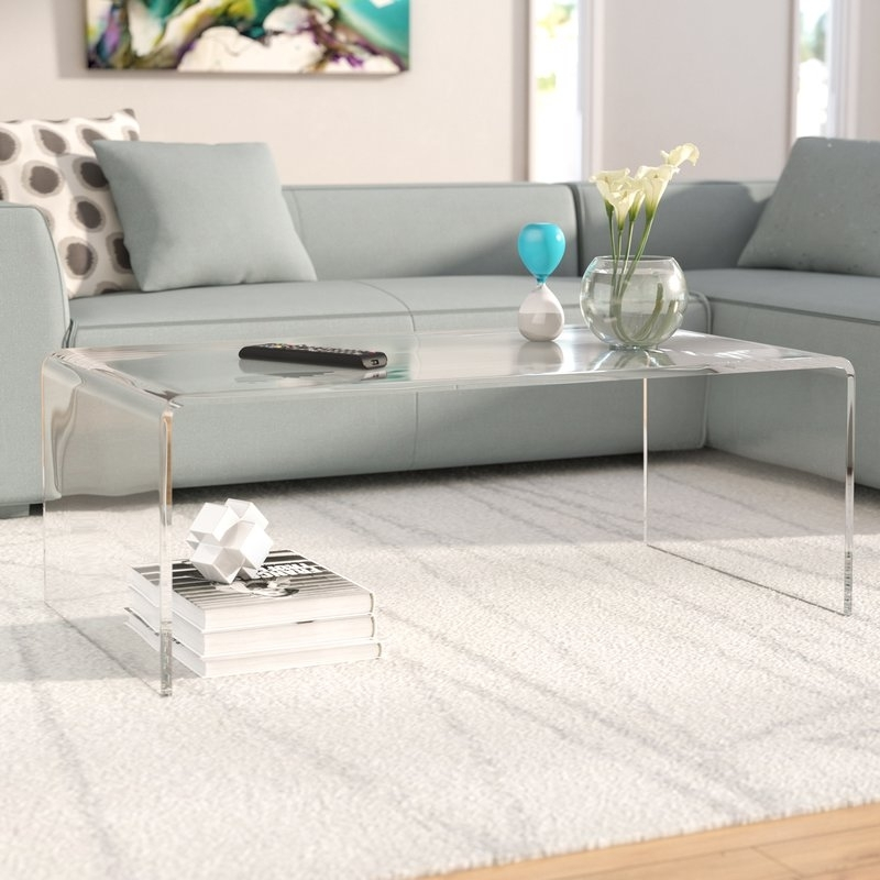 Wade Logan Brantlee Tall Coffee Table & Reviews | Wayfair Intended For Peekaboo Acrylic Tall Coffee Tables (View 16 of 40)
