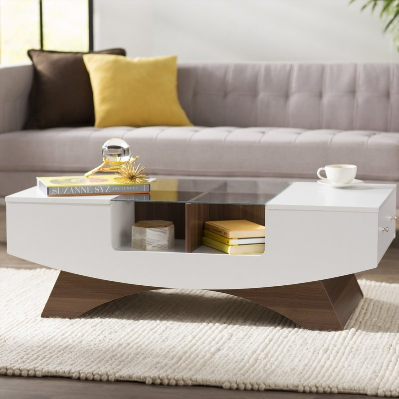 Wade Logan Madilynn Coffee Table & Reviews | Wayfair Throughout Logan Cocktail Tables (View 15 of 40)