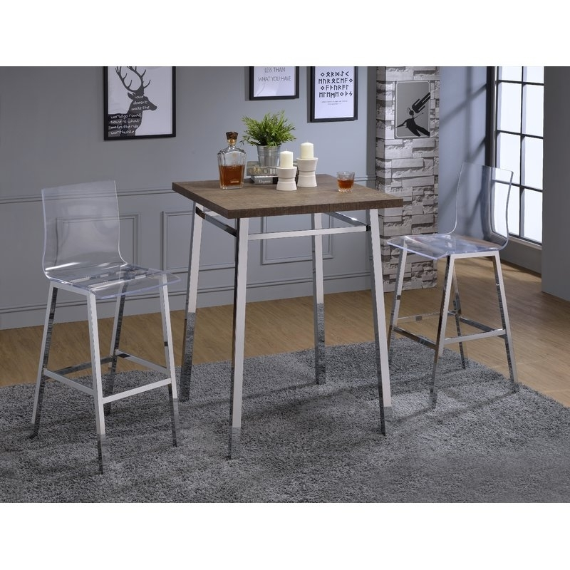 Wade Logan Potomac Pub Table Set & Reviews | Wayfair Throughout Potomac Adjustable Coffee Tables (View 2 of 40)