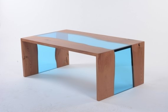 Waterfall Coffee Table Wood | Wearesircle In Waterfall Coffee Tables (Image 36 of 40)