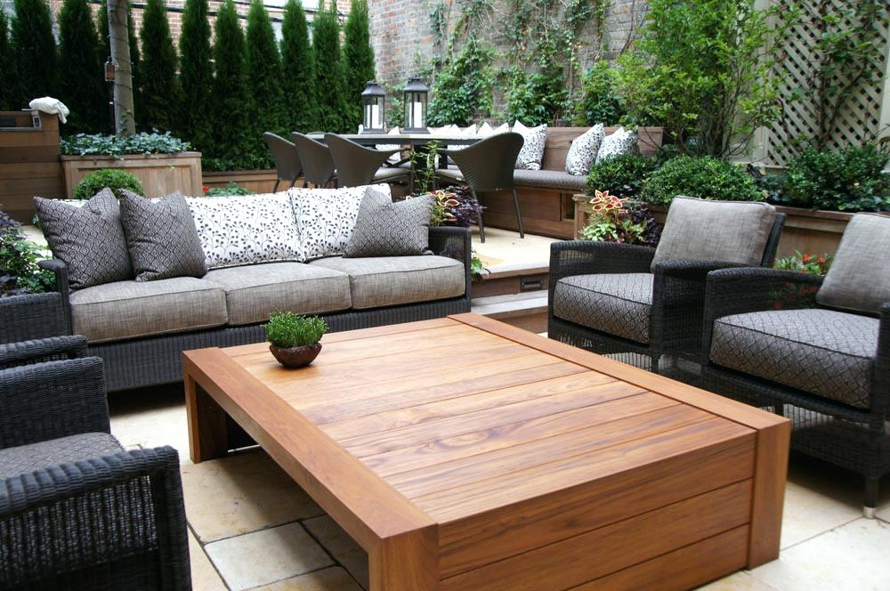 Weathered Teak Coffee Table Outdoor — New Home Design : The Elegance For Large Teak Coffee Tables (View 14 of 40)