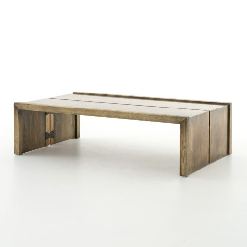 Weaver Coffee Table Antique Brass – Boulevard Urban Living Inside Weaver Dark Rectangle Cocktail Tables (Image 39 of 40)