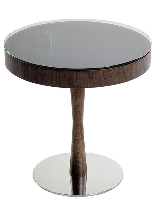 Wenge Wood Display Side Table | Modern Furniture • Brickell Collection In Smoked Oak Side Tables (Image 38 of 40)