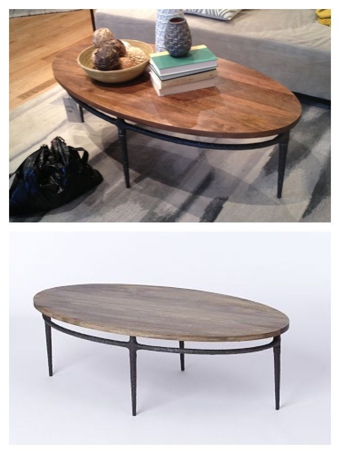 West Elm: Cast Base Coffee Table $399 Den? | Ella's House With Reclaimed Elm Cast Iron Coffee Tables (View 3 of 40)