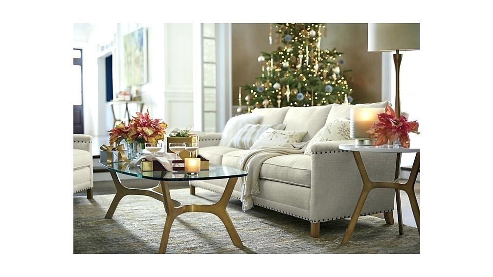 White And Glass Coffee Table – Acfirehire With Round White Wash Brass Painted Coffee Tables (Image 36 of 40)