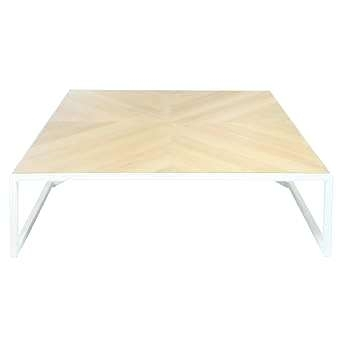 White And Metal Coffee Table In Waxed Metal Coffee Tables (Image 39 of 40)