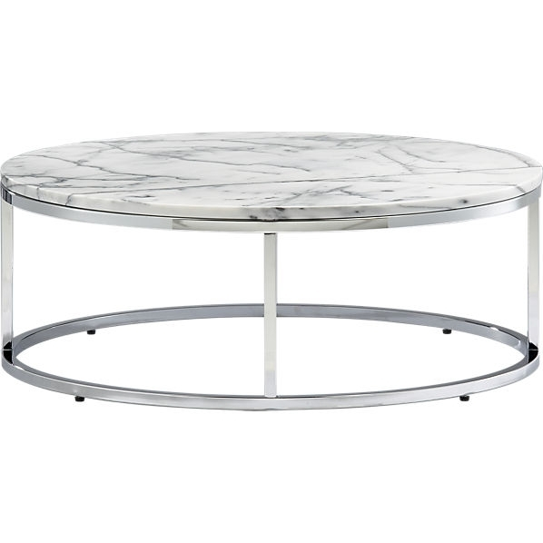 White Ceramics Round Marble Top Coffee Table Decorations Smart Within Smart Large Round Marble Top Coffee Tables (View 13 of 40)