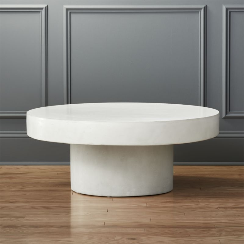 White Coffee Tables | Cb2 With Regard To Elba Cocktail Tables (Image 38 of 40)