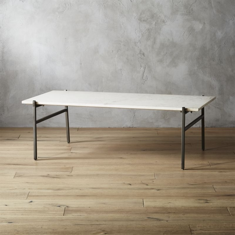 White Coffee Tables | Cb2 Within Intertwine Triangle Marble Coffee Tables (View 7 of 40)