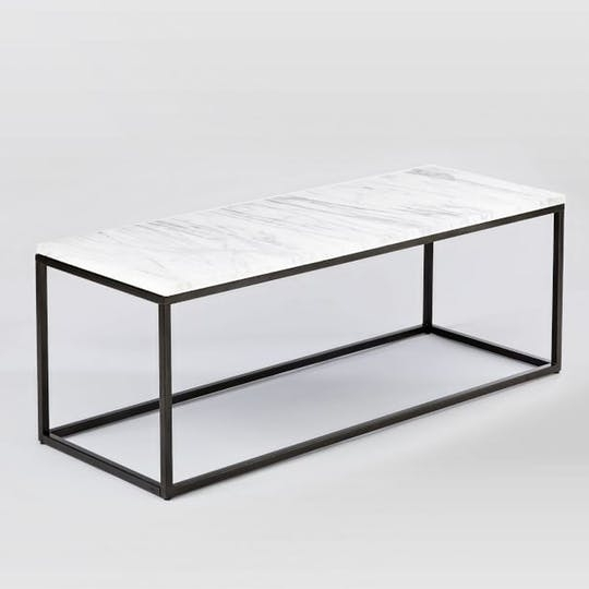 White Marble Coffee Table Intended For Tables Every Budget Apartment Within Iron Marble Coffee Tables (Image 37 of 40)