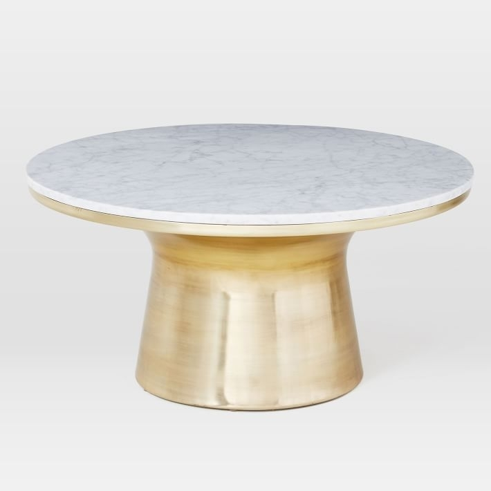 White Marble Coffee Table Marble Coffee Table Round Coffee Table Intended For Slab Small Marble Coffee Tables With Antiqued Silver Base (Image 38 of 40)