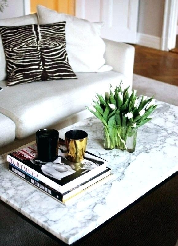 White Marble Coffee Table – Save The Ideas With Regard To Intertwine Triangle Marble Coffee Tables (View 17 of 40)