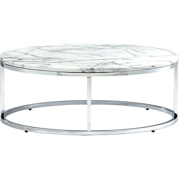 White Marble Top Coffee Table Coffee Table Smart Round Marble Top For Smart Round Marble Top Coffee Tables (Image 40 of 40)
