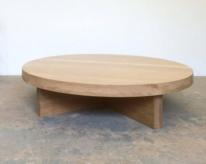 White Oak Coffee Table Round – Free Shipping Dylan Design Co Throughout Swell Round Coffee Tables (Image 40 of 40)