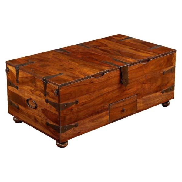 William Sheppee Thakat Trunk Coffee Table Wsc062 | Ebay Throughout Rectangular Barbox Coffee Tables (Image 40 of 40)