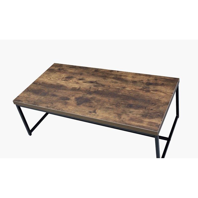 Williston Forge Karina Coffee Table & Reviews | Wayfair Throughout Pine Metal Tube Coffee Tables (Image 39 of 40)