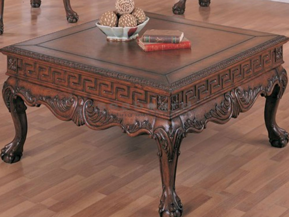 Wilshire Square Traditional Coffee Table 5099 – Seaboard Bedding And Intended For Traditional Coffee Tables (View 14 of 40)