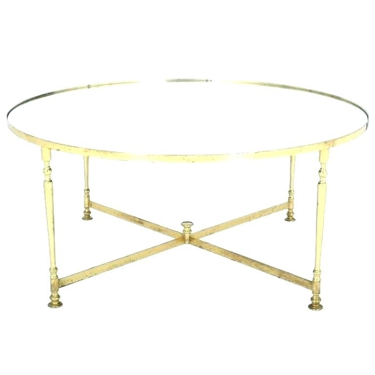 Wisteria Rectangular Brass Finish And Glass Coffee Table Vintage Set Throughout Rectangular Brass Finish And Glass Coffee Tables (View 12 of 40)