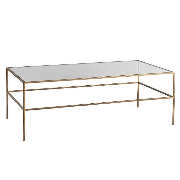 Featured Image of Rectangular Brass Finish And Glass Coffee Tables