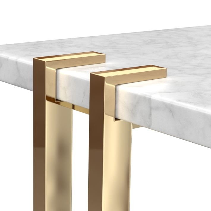 Wood And Metal Dining Table With Darbuka Brass Coffee Tables (Image 40 of 40)