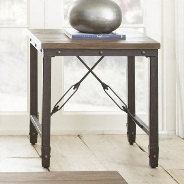 Wood And Rod Iron End Tables | Wayfair With Reclaimed Pine & Iron Coffee Tables (View 33 of 40)