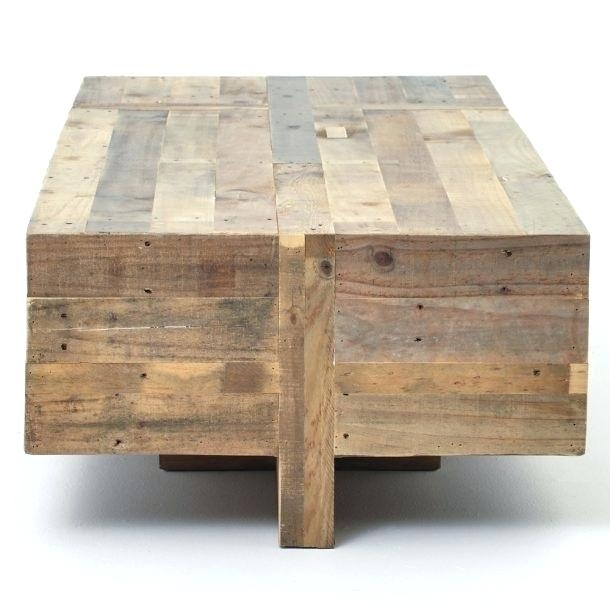 Wood Block Side Table Easy Pieces Solid Tables Square – Darog Intended For Smoked Oak Side Tables (Image 39 of 40)