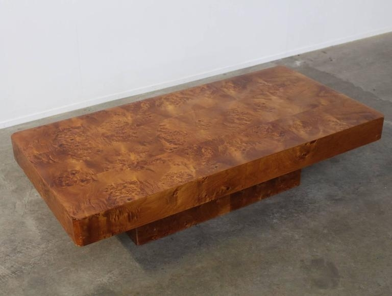 Wood Burl Coffee Table – Table Design Ideas Regarding Oslo Burl Wood Veneer Coffee Tables (Image 40 of 40)