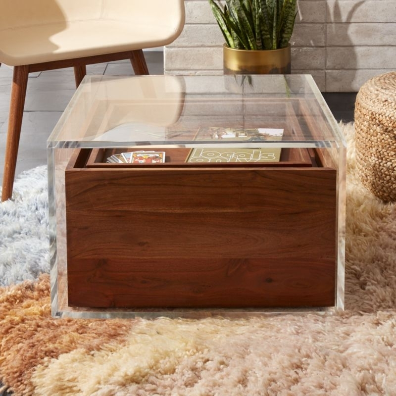Wood Coffee Tables | Cb2 For Joni Brass And Wood Coffee Tables (View 15 of 40)