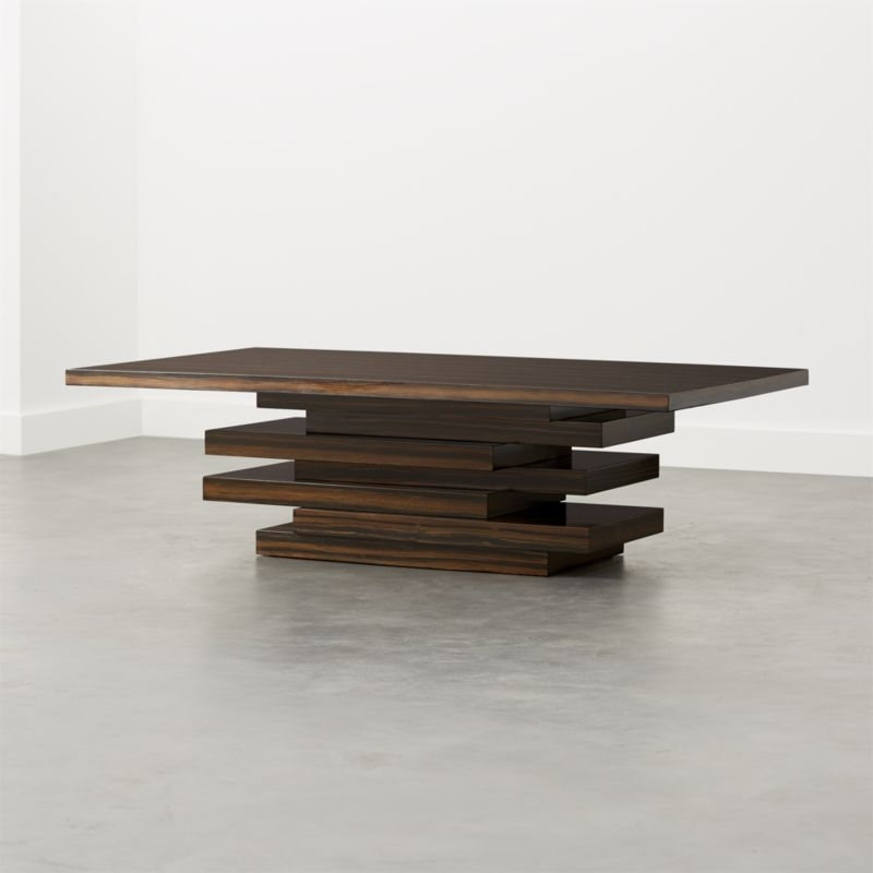 Wood Coffee Tables | Cb2 Regarding Joni Brass And Wood Coffee Tables (Image 39 of 40)