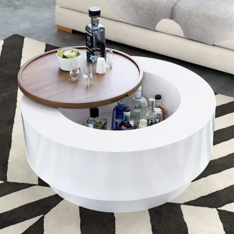 Wood Coffee Tables | Cb2 Within Joni Brass And Wood Coffee Tables (Photo 8 of 40)
