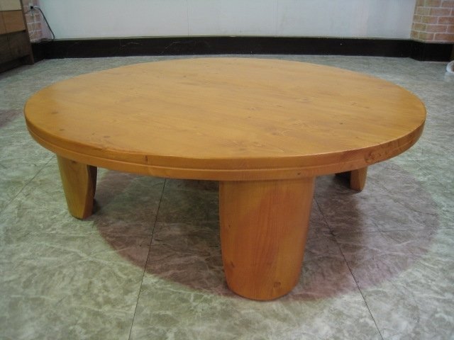 Wood Gallery Itsuki | Rakuten Global Market: Round Table Living Taku Inside Natural Pine Coffee Tables (Image 39 of 40)
