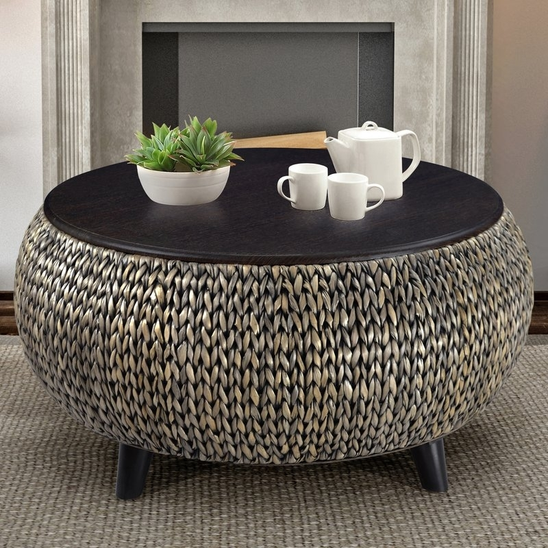 World Menagerie Dimitri Round Coffee Table Reviews Wayfair Within Intended For Element Ivory Rectangular Coffee Tables (Image 40 of 40)