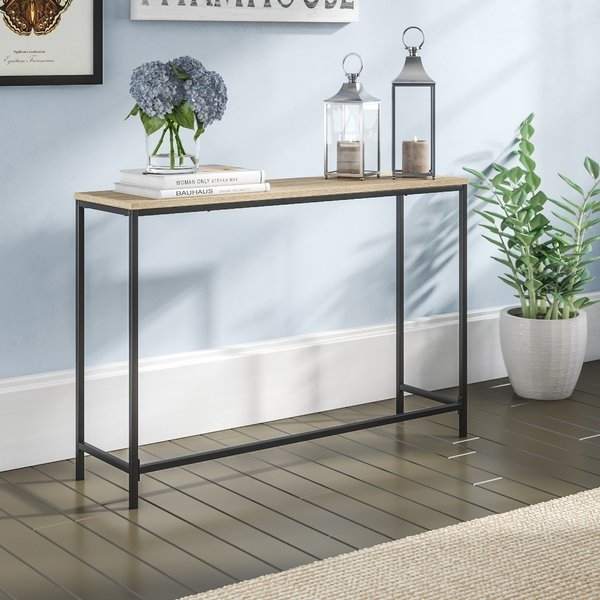 Wrought Iron Console Tables | Wayfair Pertaining To Aged Iron Cube Tables (Image 39 of 40)