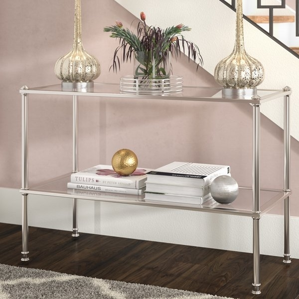 Wrought Iron Sofa Table | Wayfair Throughout Aged Iron Cube Tables (Image 40 of 40)