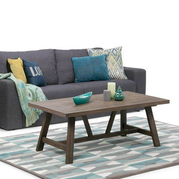 Wyndenhall Stewart Driftwood Finish Coffee Table – Free Shipping Pertaining To Jonah Lift Top Cocktail Tables (View 10 of 40)