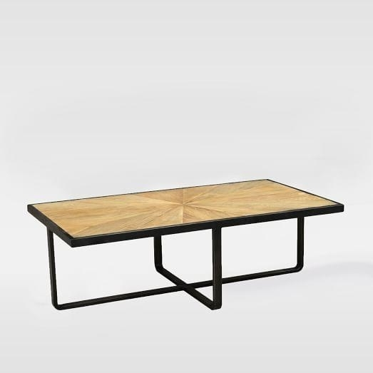 Wythe Black And Natural Coffee Table Pertaining To Reclaimed Elm Iron Coffee Tables (View 25 of 40)