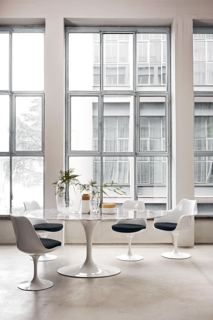17 Best Tables Tulipes Images On Pinterest | Tulips Flowers, Dining Regarding Recent Palazzo 7 Piece Dining Sets With Pearson White Side Chairs (View 19 of 20)
