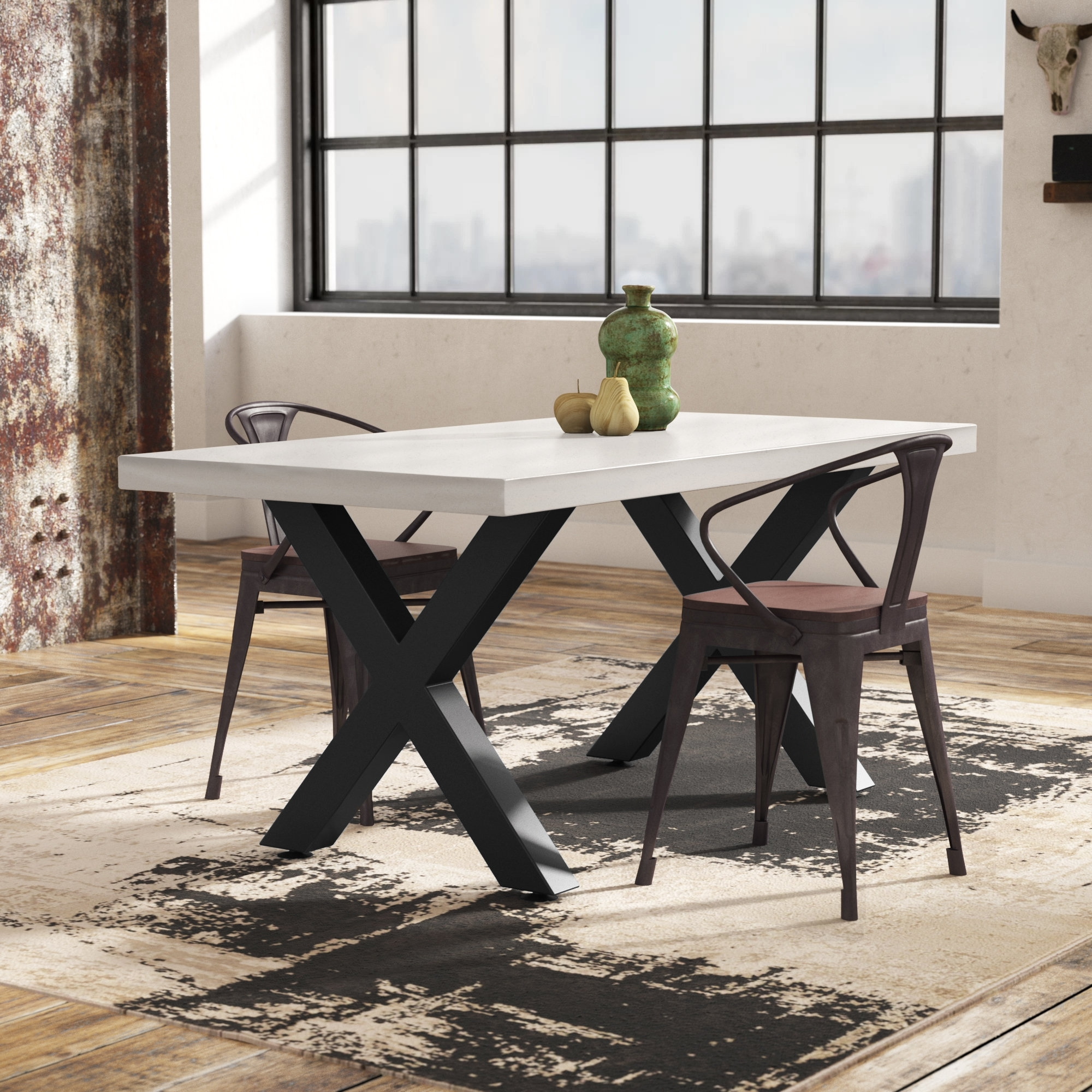 17 Stories Bodil Concrete Rectangular Dining Table & Reviews | Wayfair Throughout Most Up To Date Candice Ii Extension Rectangle Dining Tables (View 11 of 20)