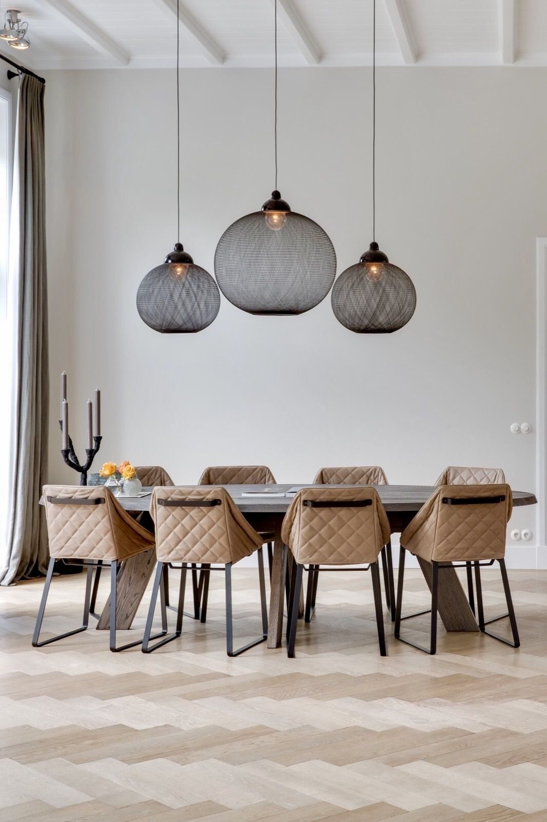 22 Best Ideas Of Pendant Lighting For Kitchen, Dining Room And In Latest Bale Rustic Grey Dining Tables (Image 1 of 20)