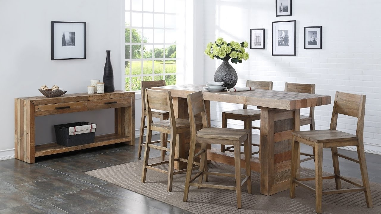 23 Cool Ideas! Counter Height Dining Set – Youtube Within Recent Leon 7 Piece Dining Sets (View 8 of 20)