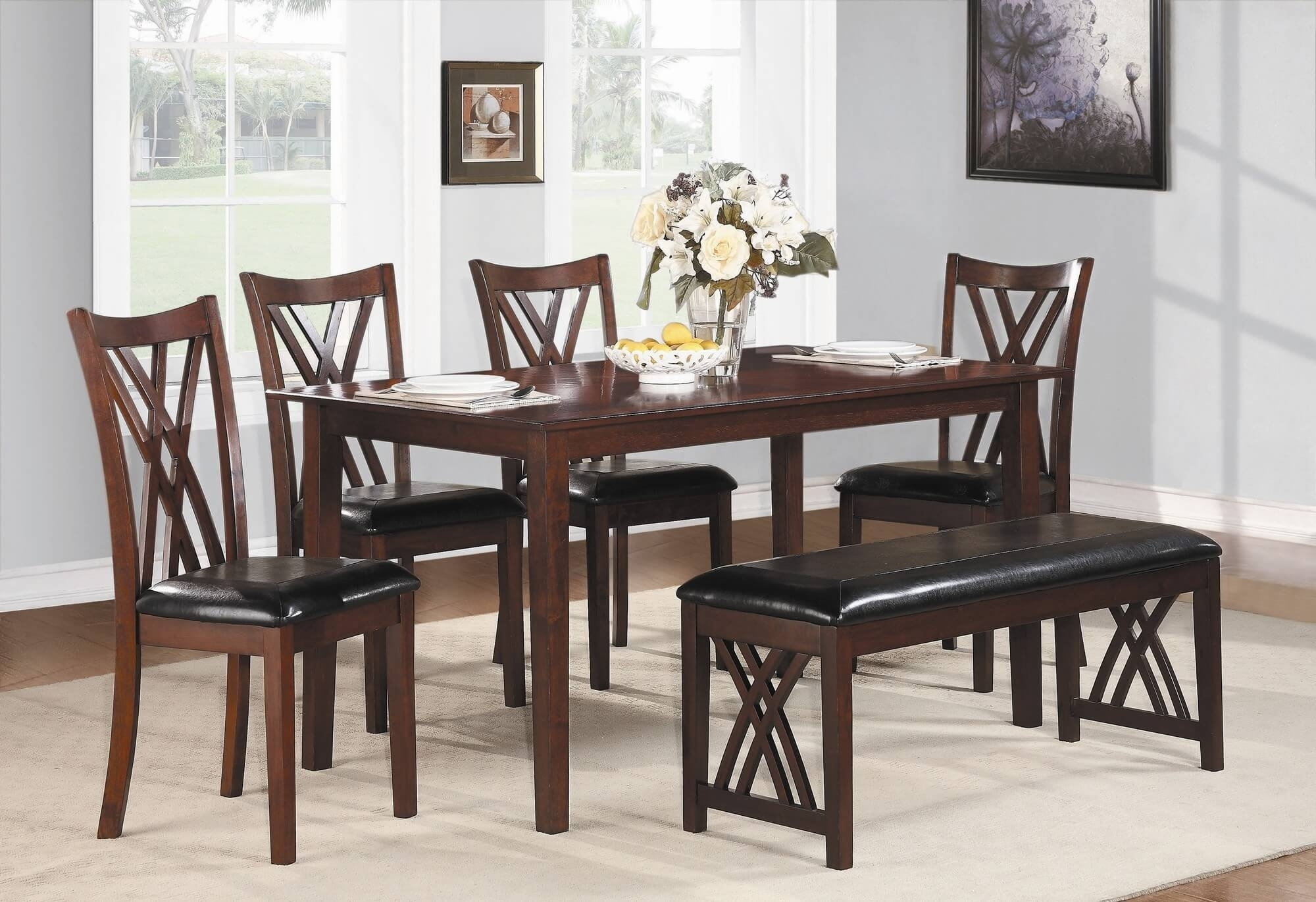 26 Dining Room Sets (Big And Small) With Bench Seating (2018) Intended For Best And Newest Market 6 Piece Dining Sets With Side Chairs (Photo 18 of 20)