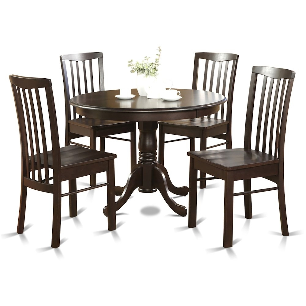 5 Pc Small Kitchen Table And Chairs Set Table Round Table And 4 Regarding Most Recently Released Cora 5 Piece Dining Sets (Image 2 of 20)